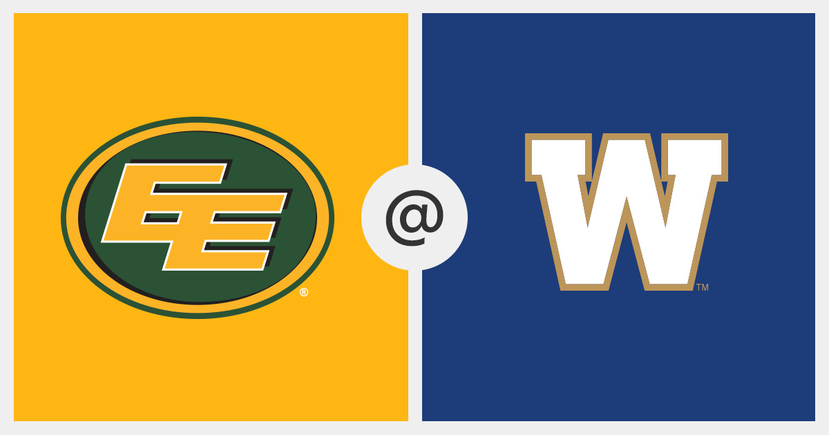 2016 07 14 Game Tracker Edmonton Eskimos Vs Winnipeg