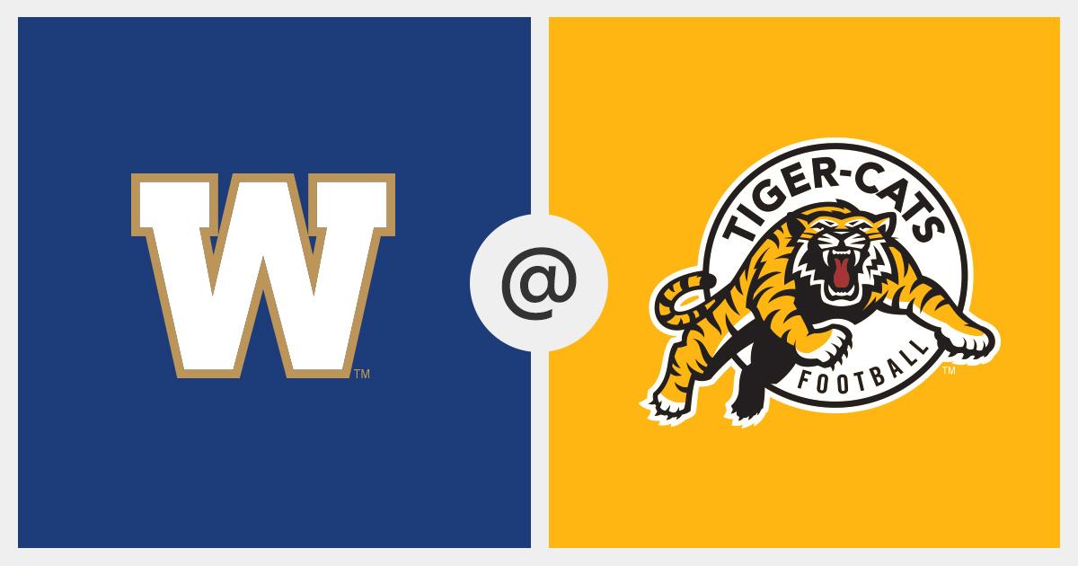 Winnipeg Blue Bombers Vs Hamilton Tiger Cats